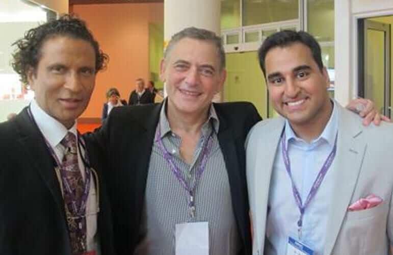 best rhinoplasty surgeon in california in one photo - Dr Raj Kanodia, Dr Jean-Louis Sebagh, and Dr Deepak Dugar