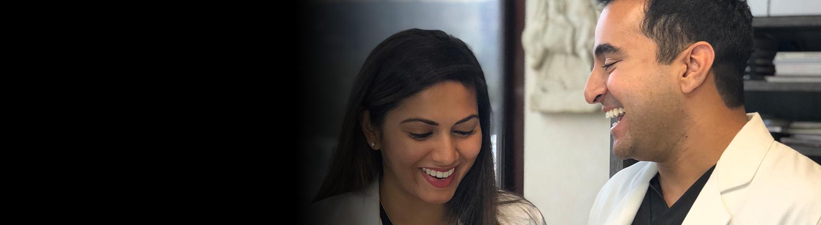 Dr. Puja Roy and Dr Deepak Dugar smiling