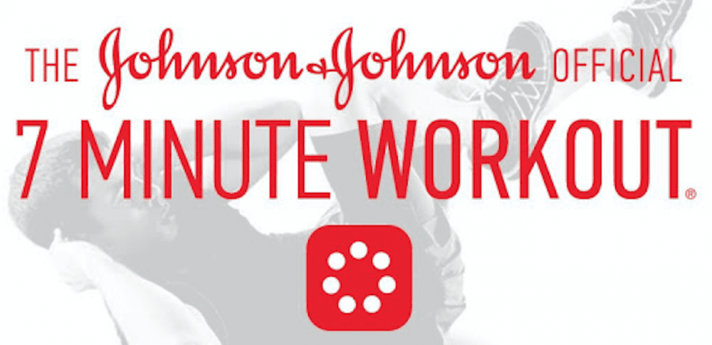 the Johnson&Johnson's official 7 minute workour poster