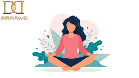 poster that shows someone meditating and concentrating