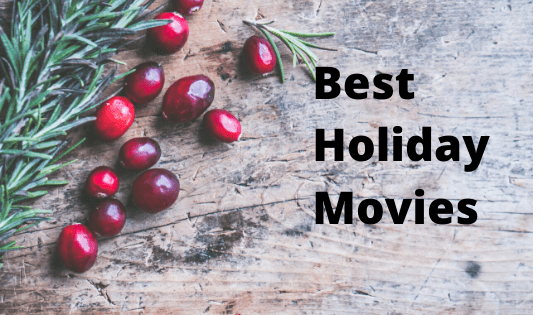 "cherries as backgrund photo to the text""best holiday movies"""