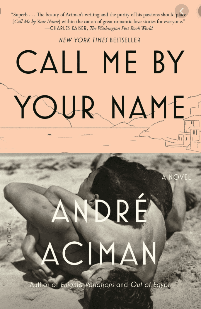 Call Me by Your Name Novel by André Aciman book cover