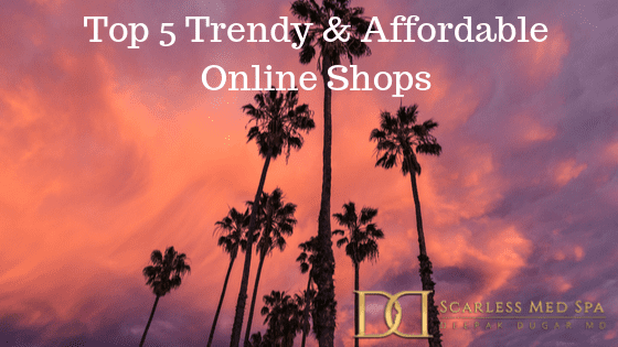 "best scene of sky with the text""Top 5 trendy & Affordable Online shops"""