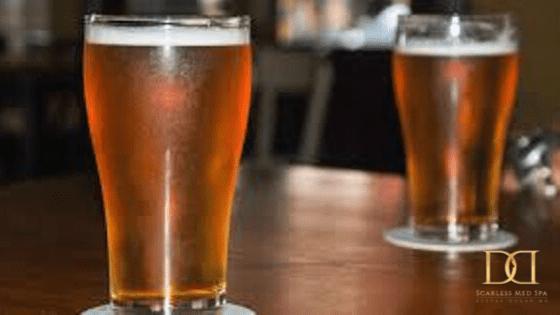 two beer glasswares