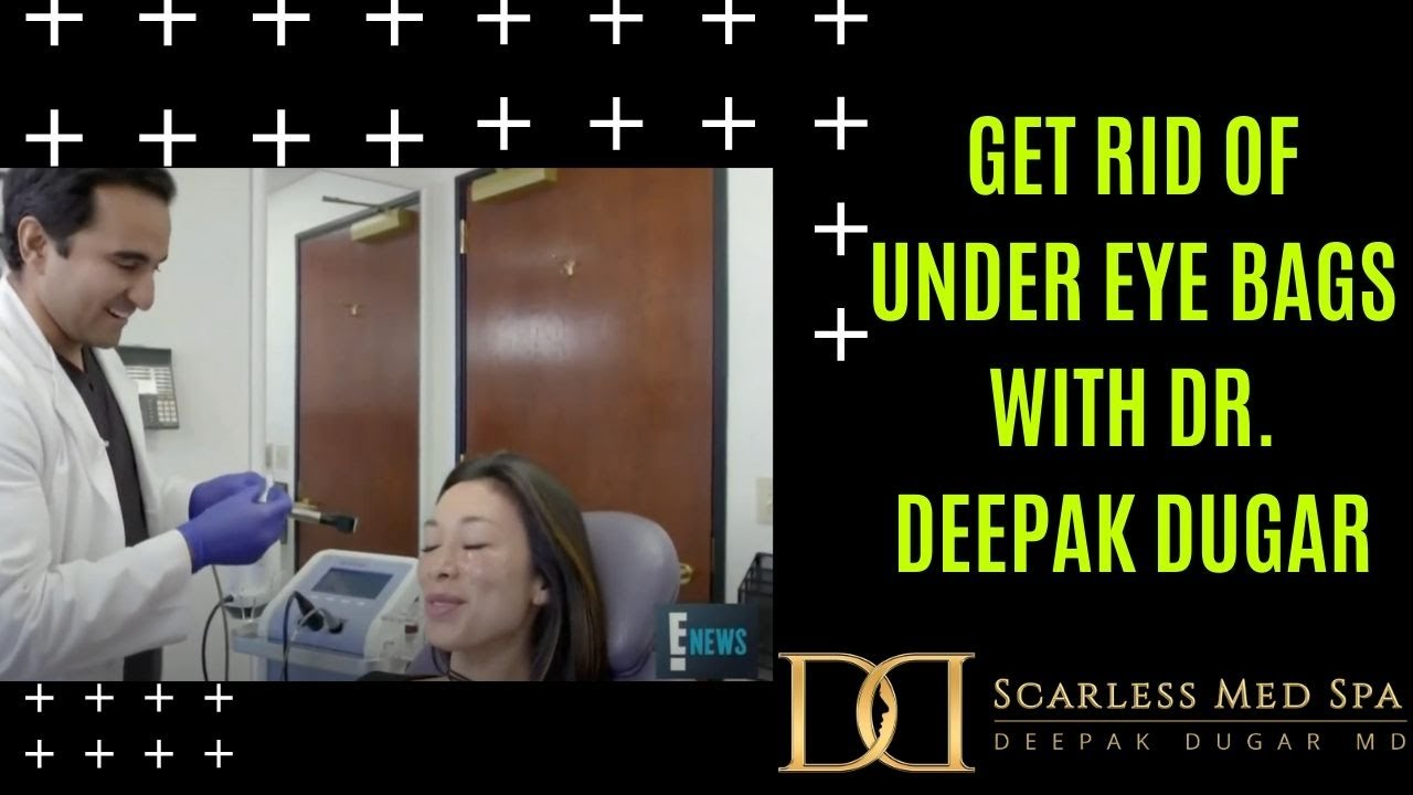 Youtube thumbnail of Dr Dugar's video about how to get rid of under eye bags