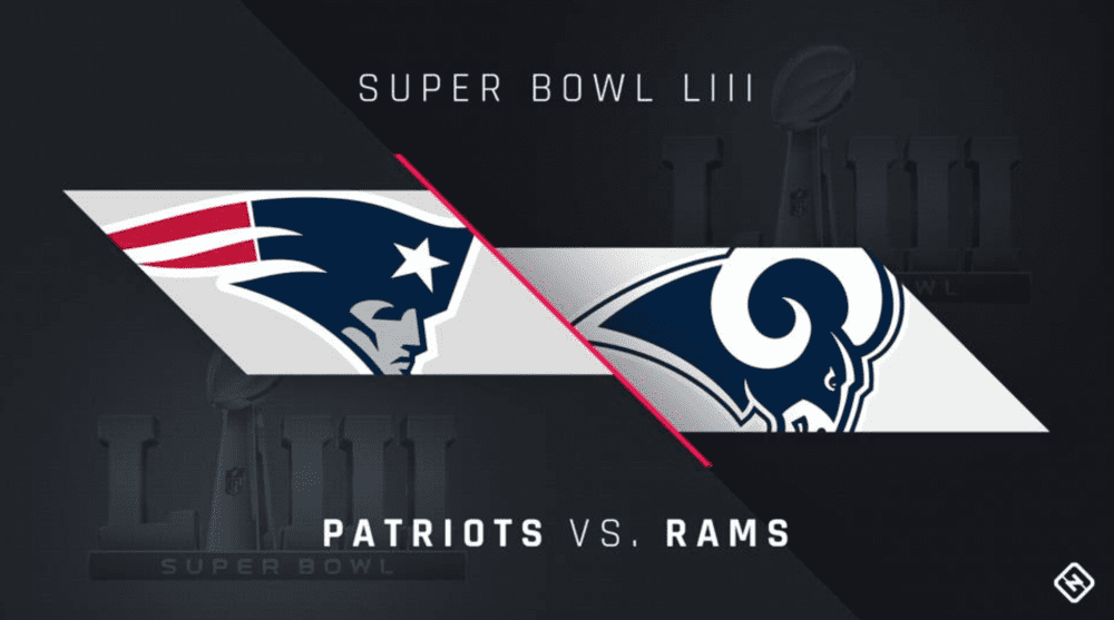 New England Patriots vs Los Angeles RAMS poster