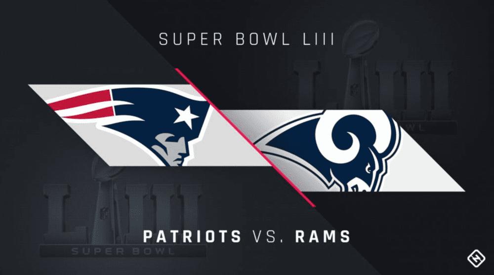 New England Patriots vs Los Angeles RAMS poster