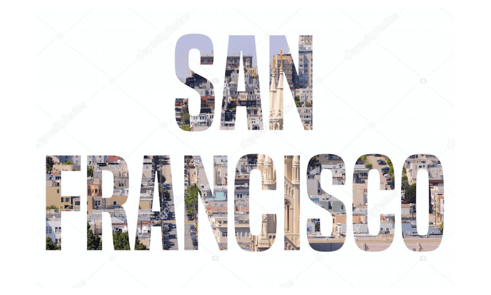 San Francisco word sign