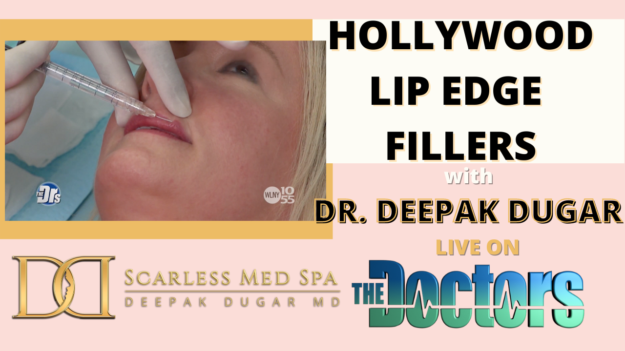 Youtube thumbnail of Dr Dugar's video about lip edge fillers