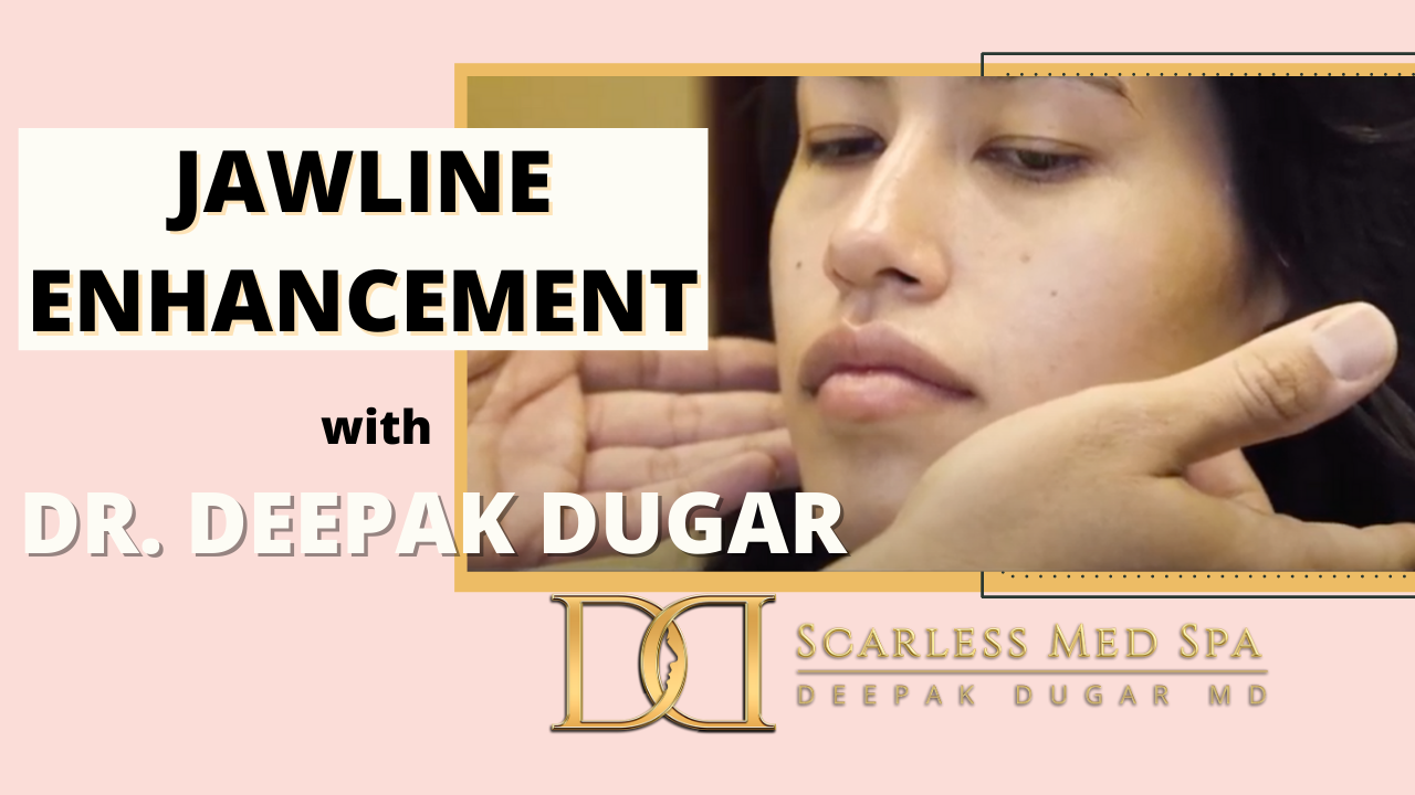 Youtube thumbnail of Dr Dugar's video about Jawline Enhancement
