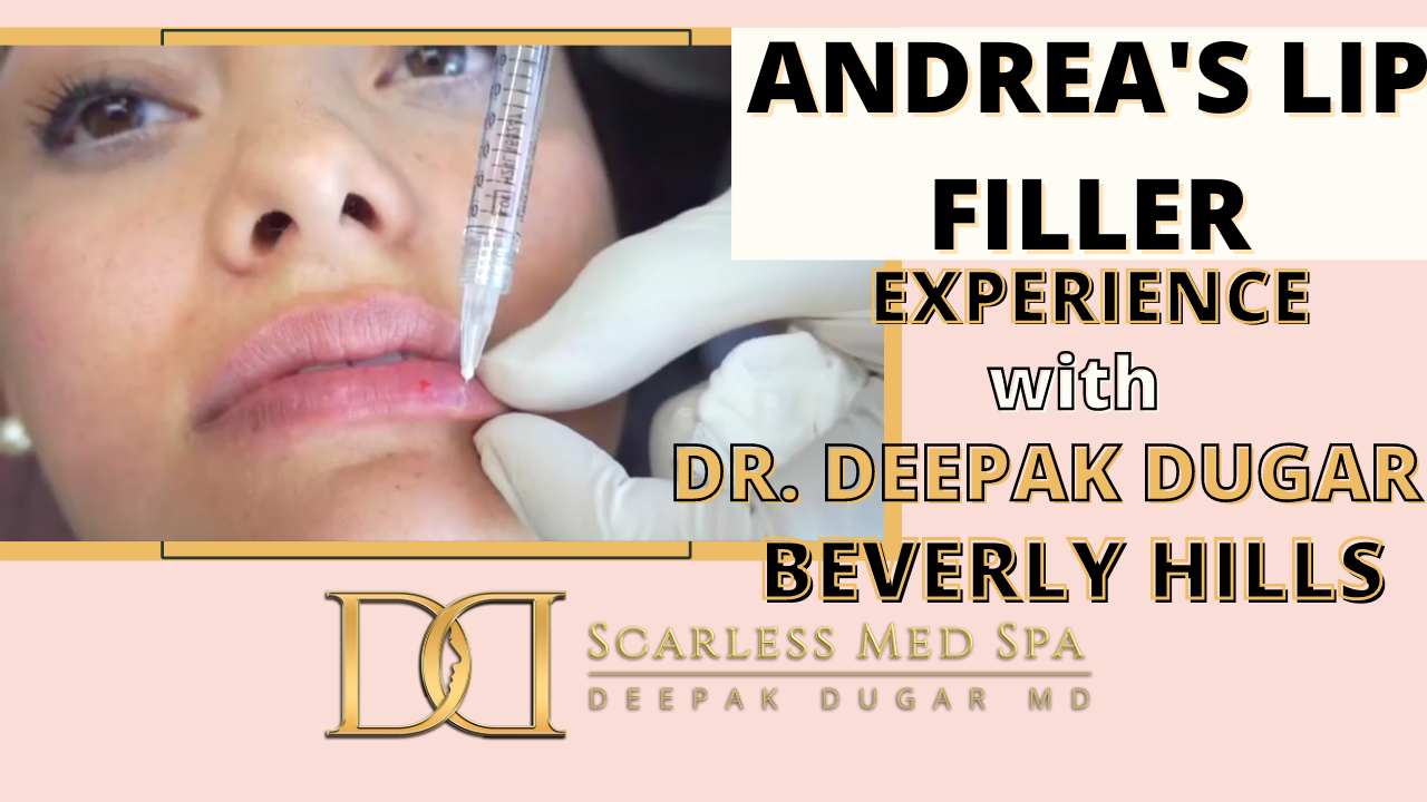 Youtube thumbnail of Dr Dugar's video about his female patient's lip filler experience